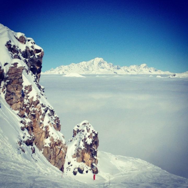 le Mont Blanc comme une île