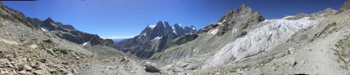 parc des ecrins-glacier blanc-panorama