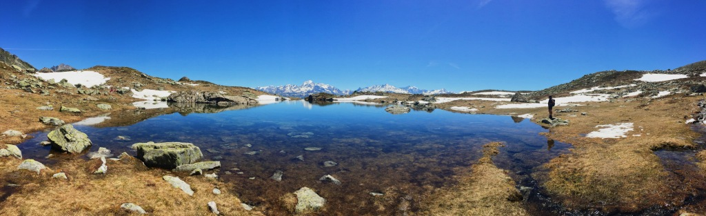 Lac des gloriettes dans le Beaufortain