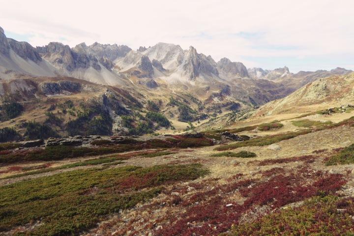 le massif des Cerces depuis la vallée de la Clarée