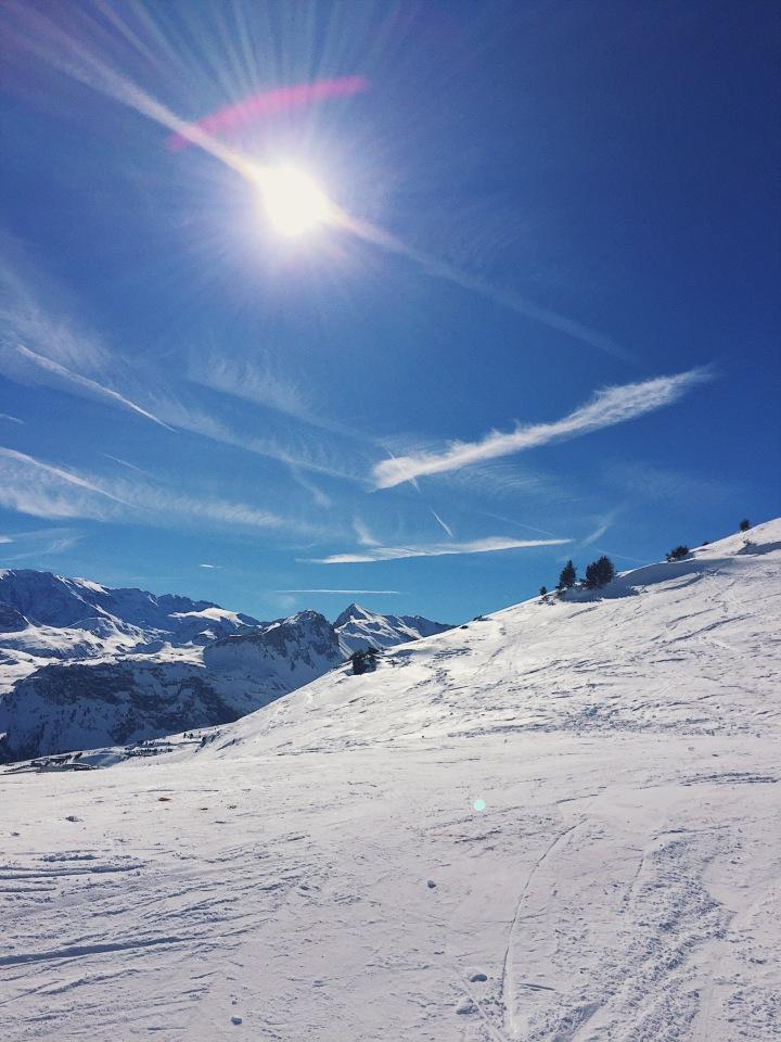 ski à courchevel