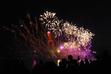 feu d'artifice de la fête du lac d'Annecy